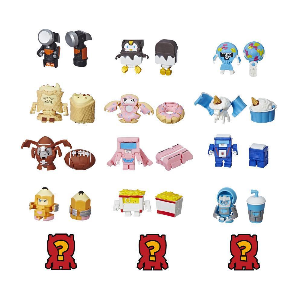 Transformers BotBots Toys Series 1 - Sugar Shocks -- Empaque de 5 figuras - ¡Figuras coleccionables misterio 2 en 1!