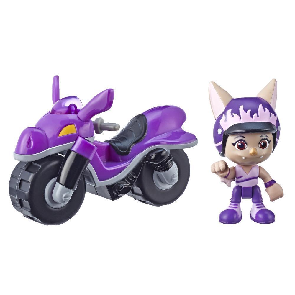 Top Wing Moto todoterreno de Betty Bat, vehículo con figura removible de 7,5 cm del programa de Nick Jr., gran juguete para niños entre 3 y 5 años