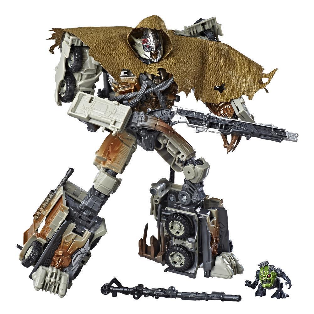 Juguetes Transformers Studio Series 34 - Figura de acción Megatron clase líder de la Película El lado oscuro de la luna con figura de acción de Igor - Edad recomendada: 8 años en adelante, 21,5 cm