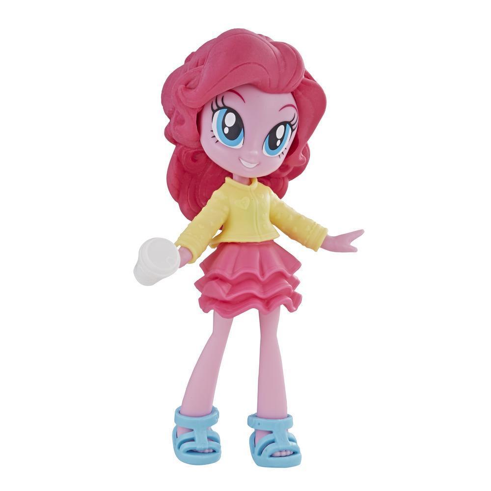 My Little Pony Equestria Girls Brigada de moda minimuñeca Pinkie Pie de 7,5 cm con ropa removible, zapatos y accesorio, para niñas de 5 años en adelante