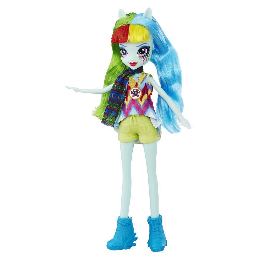My Little Pony Equestria Girls Legend of Everfree - Muñeca de Rainbow Dash