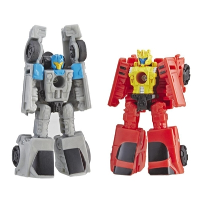 Transformers Generations War for Cybertron: Siege - Empaque doble de juguetes figuras de acción - Patrulla de bólidos Autobot Micromaster WFC-S4
