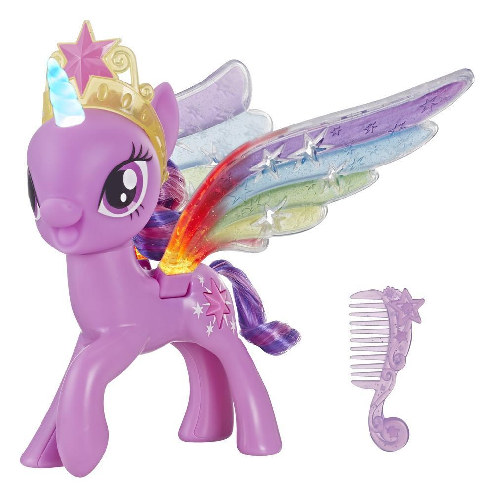 My Little Pony Twilight Sparkle Alas arcoíris - Figura pony con luces y alas móviles