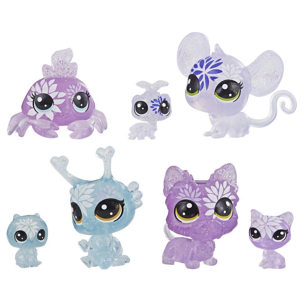 Littlest Pet Shop - Colección Hortensias, 7 mascotas, parte de la colección Fiesta de Pétalos LPS