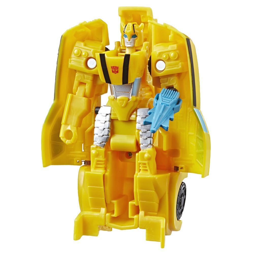 Transformers Cyberverse Action Attackers - Bumblebee Cambiador de 1 paso - Figura de acción