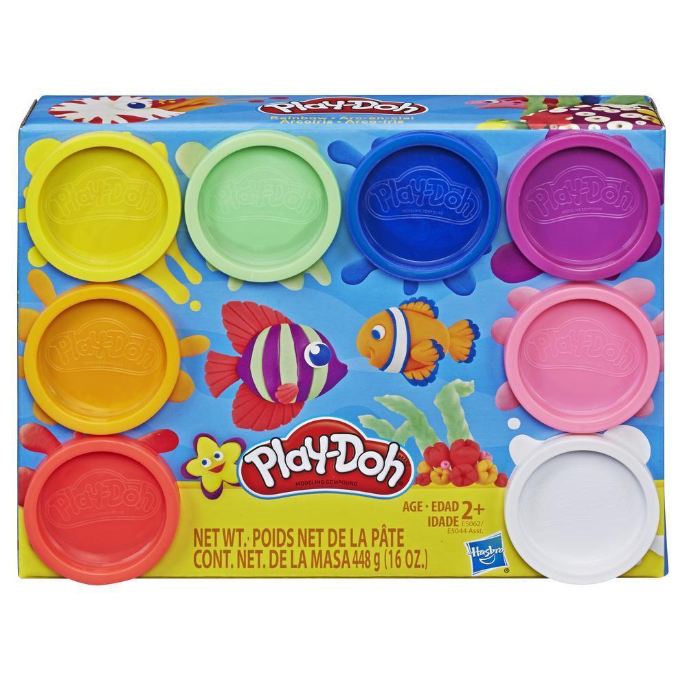 Play-Doh Arcoíris - Empaque de 8 latas de masa modeladora no tóxica con 8 colores