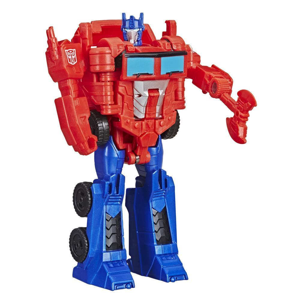 Transformers Cyberverse Action Attackers - Optimus Prime Cambiador de 1 paso - Figura de acción