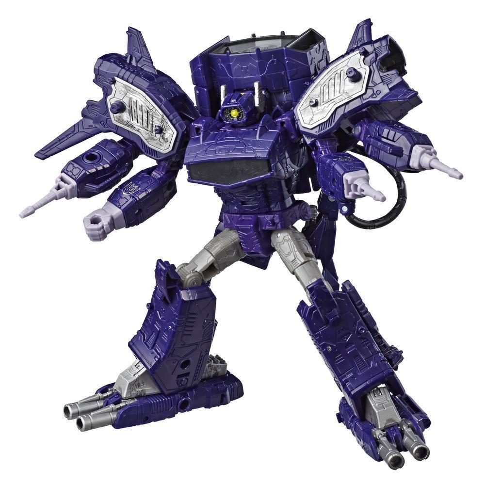 Transformers Generations War for Cybertron: Siege - Figura de acción WFC-S14 Shockwave clase líder