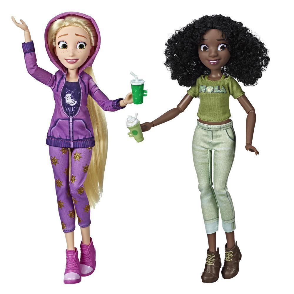 Disney Princess - Muñecas de Rapunzel y Tiana con ropa casual y accesorios, inspiradas en la película Wifi Ralph