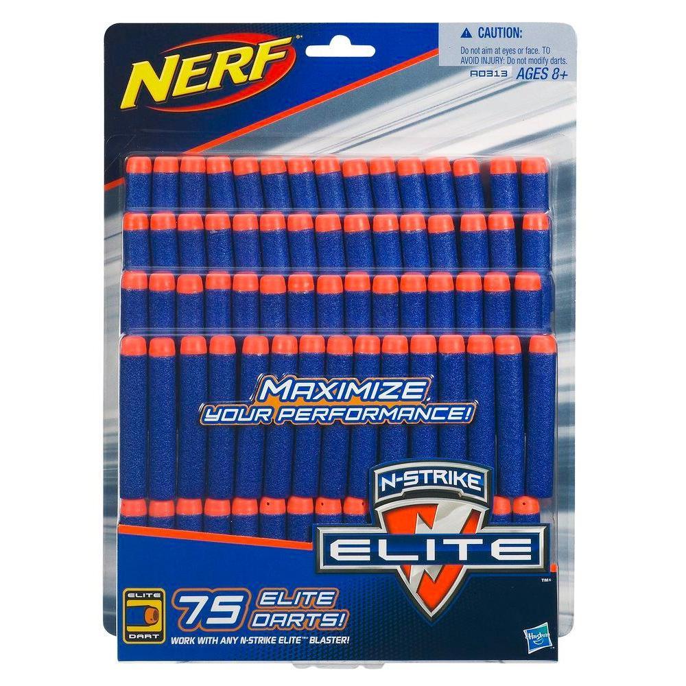 Empaque de 75 dardos Elite de repuesto oficiales de Nerf