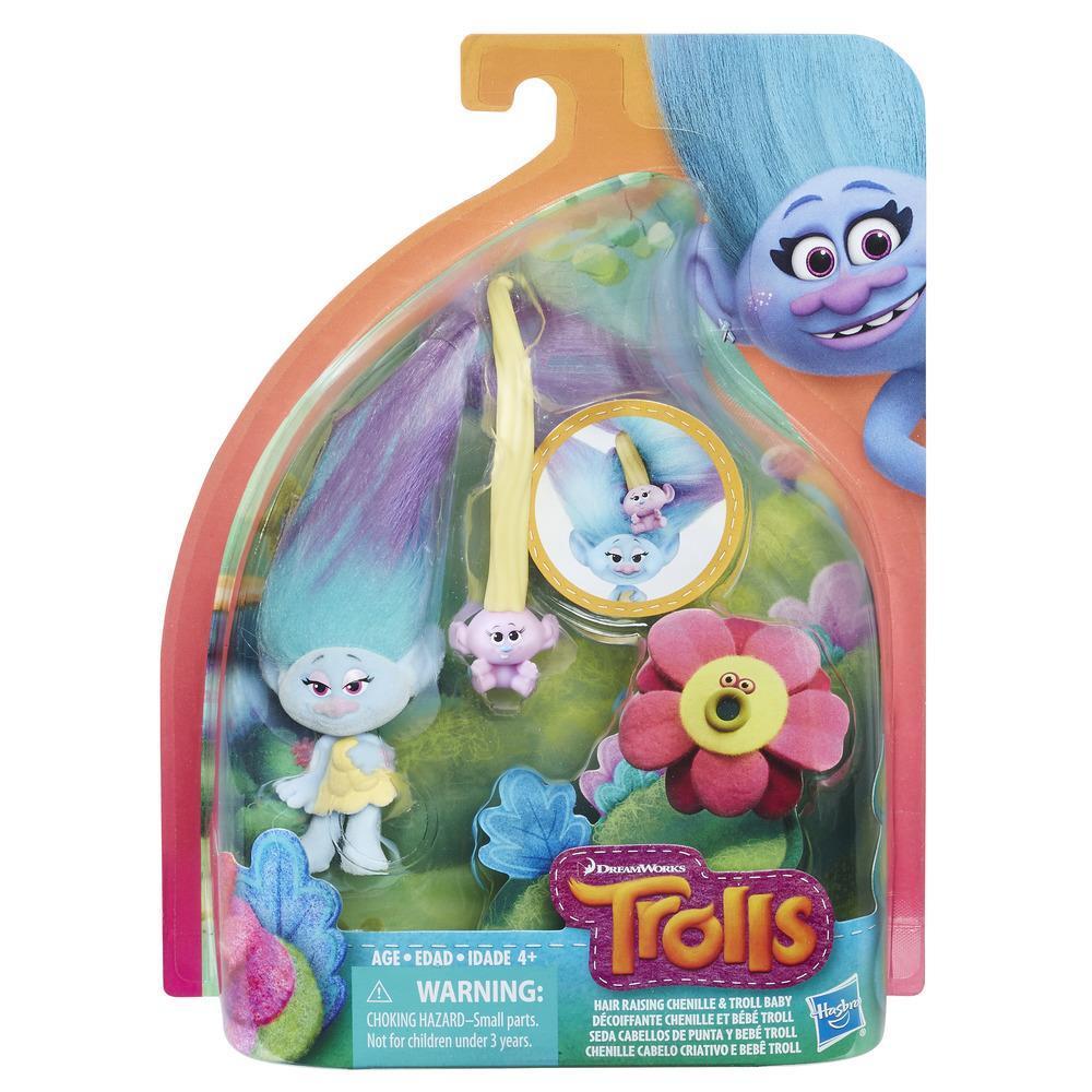 DreamWorks Trolls  - Seda Cabellos de punta y bebé Troll