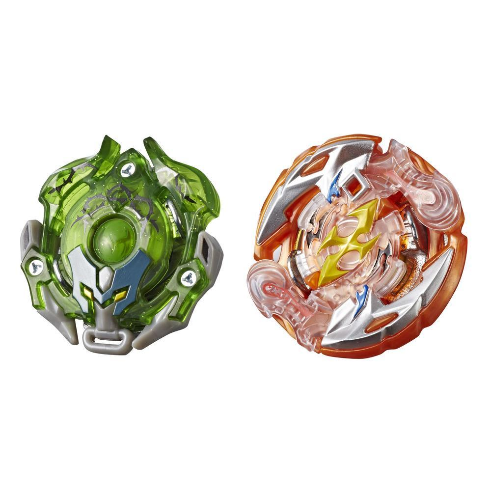 Beyblade Burst Turbo Slingshock - Empaque doble - Roktavor R4, Thorns-X Minoboros M4