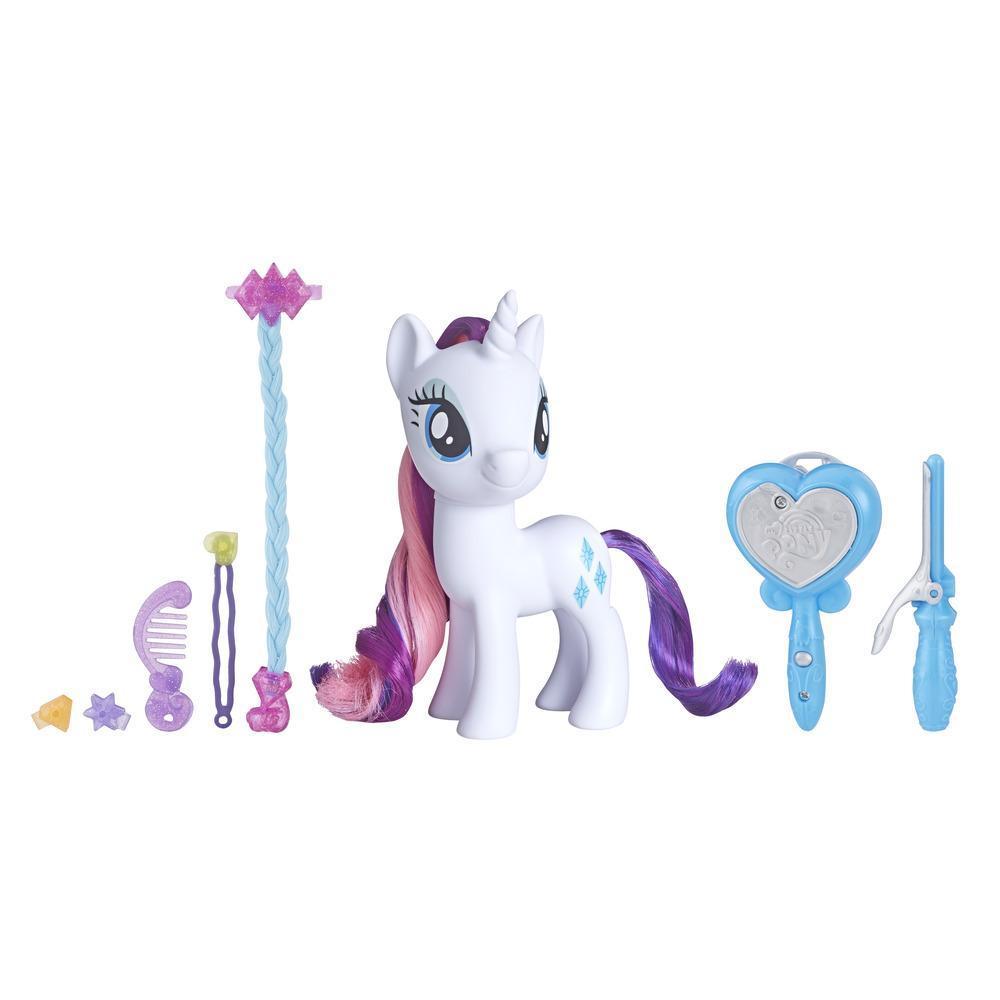 My Little Pony - Juguete Rarity Salón mágico - Pony para peinar de 15 cm