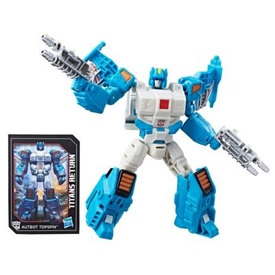 Transformers Generations Titans Return - Autobot Topspin y Freezeout