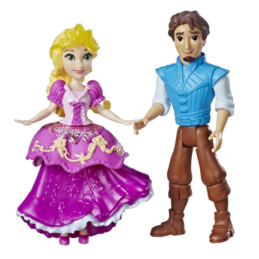 Disney Princess Rapunzel y Eugene Fitzherbert, 2 figuras, moda Traje Real, falda con clip