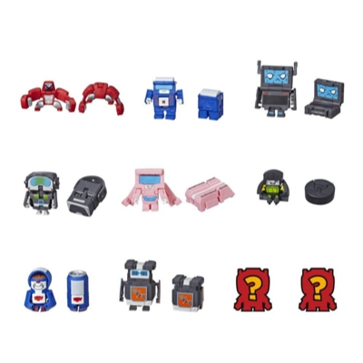 Transformers BotBots Toys Series 1 - Techie Team -- Empaque de 5 figuras - ¡Figuras coleccionables misterio 2 en 1!