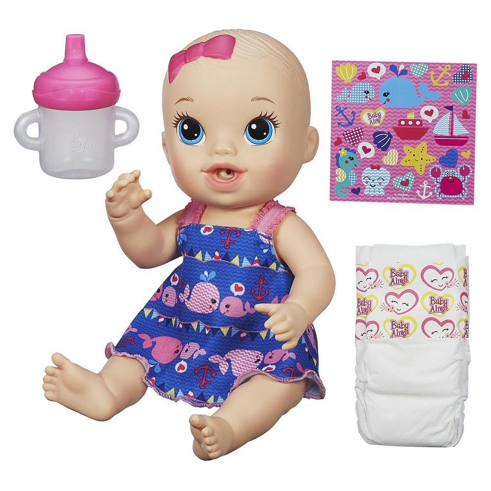 Baby Alive Sips 'n Cuddles Light Skin Tone, Blonde, Nautical Outfit