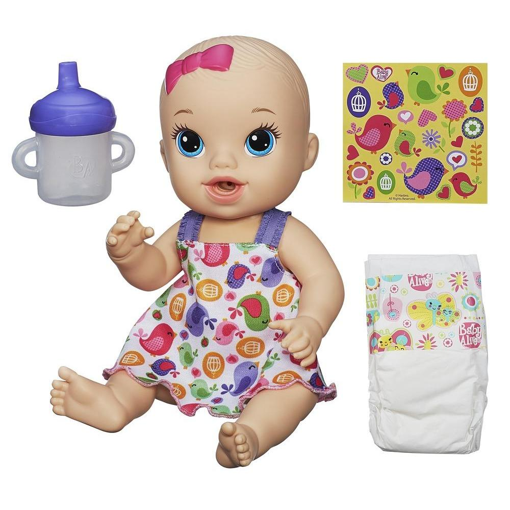 Baby Alive Sips 'n Cuddles Light Skin Tone, Blonde, Modern Outfit