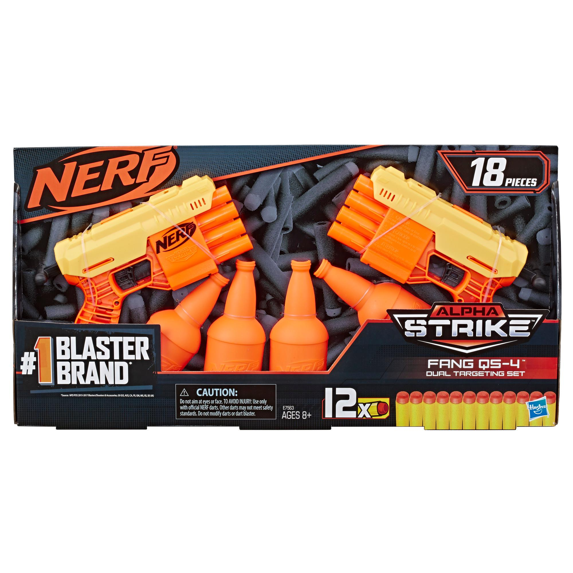 Fang QS-4 Set doble de puntería -- Set Nerf Alpha Strike de 18 piezas