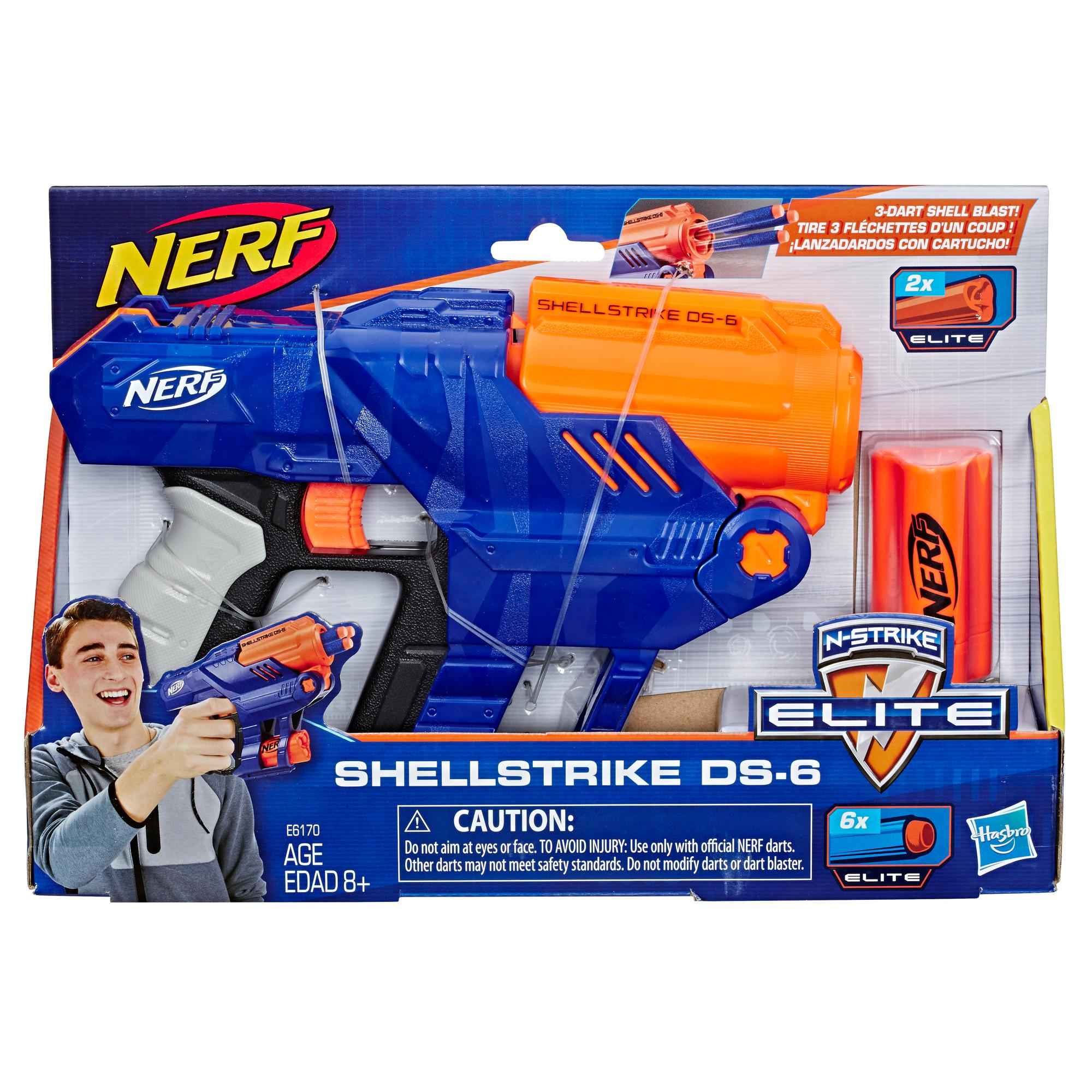 Lanzador Nerf Elite Shellstrike DS-6