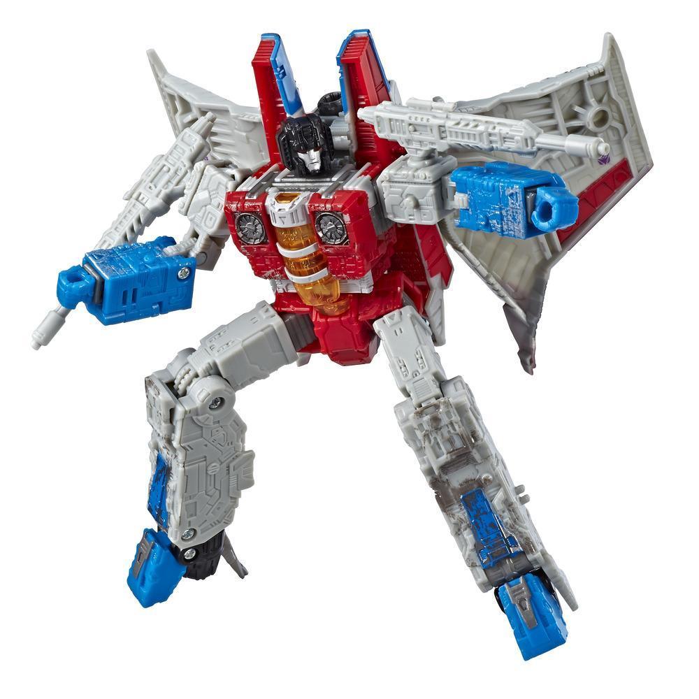 Juguetes Transformers Generations War for Cybertron - Figura de acción de WFC-S24 Starscream clase viajero - Siege Chapter - Adultos y niños de 8 años en adelante, 17,5 cm