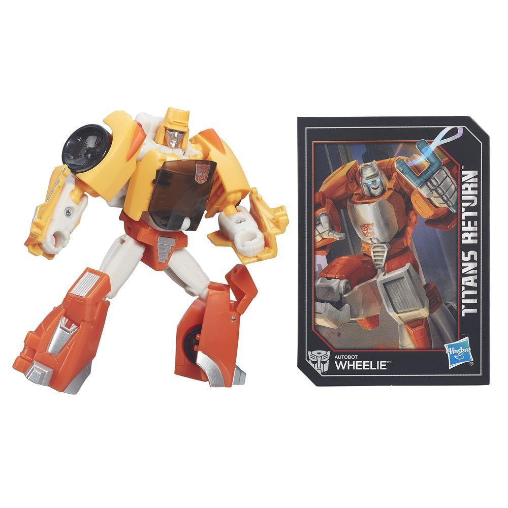 Transformers Generations Titans Return - Autobot Wheelie clase leyendas