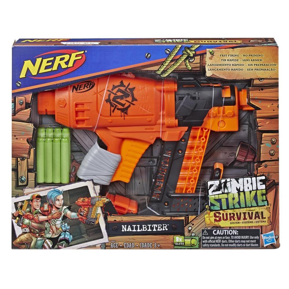 Nerf Zombie Strike - Sistema de supervivencia - lanzador Nailbiter