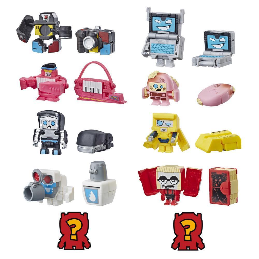 Transformers Toys BotBots Serie 2 - Empaque de 5 figuras Backpack Bunch - ¡Figuras coleccionables! Para niños de 5 años en adelante (los estilos y colores pueden variar) de Hasbro.