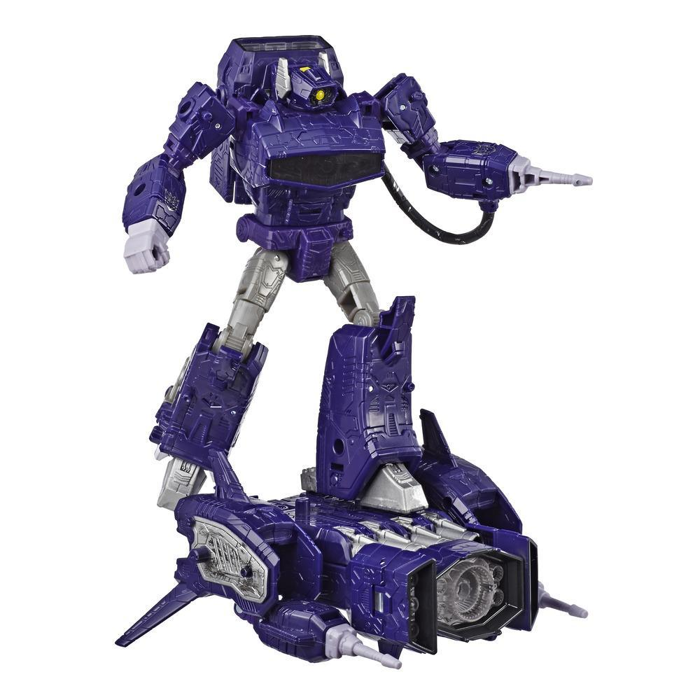 Transformers Generations War for Cybertron: Siege - Figura de acción WFC-S14 Shockwave clase líder