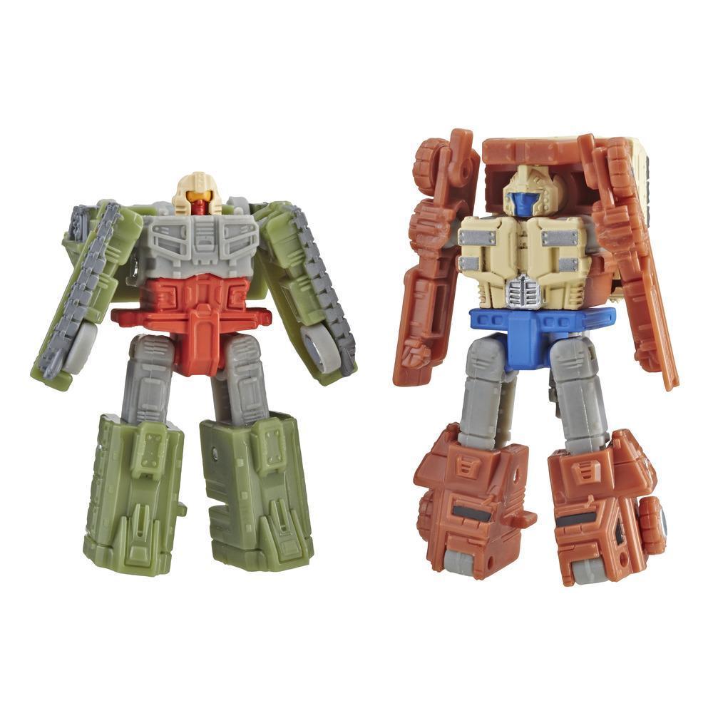 Transformers Generations War for Cybertron: Siege - Empaque doble de juguetes figuras de acción - Patrulla de combate Autobot Micromaster WFC-S6