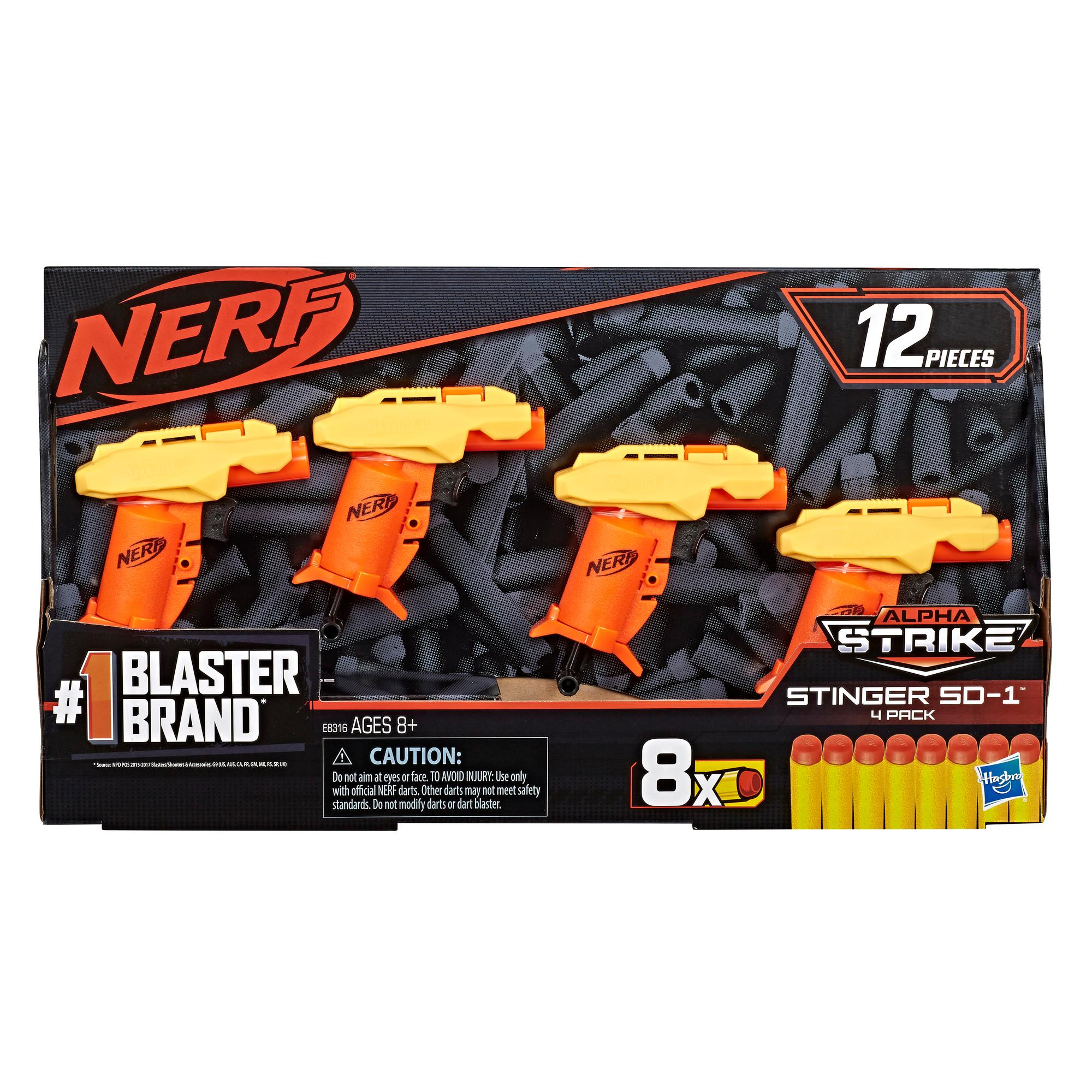Nerf Alpha Strike Stinger SD-1 Pack de 4 -- 12 piezas