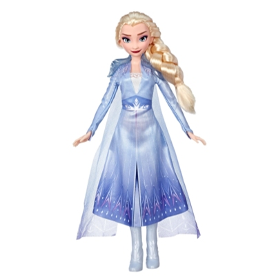 Disney Frozen - Muñeca de Elsa con cabello largo y rubio y vestimenta azul, inspirada en la película Frozen 2