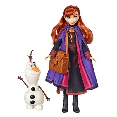 Disney Frozen - Muñeca de Anna, figura de Olaf para armar y mochila como accesorio - Set inspirado en la película Frozen 2 de Disney