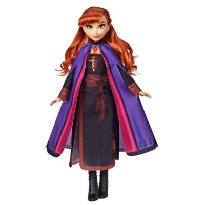 Disney Frozen - Muñeca de Anna con cabello largo y rojo y vestimenta inspirada en la película Frozen 2