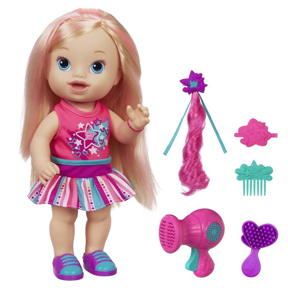 Muñeca Baby Alive Cristina Lindos Peinados rubia