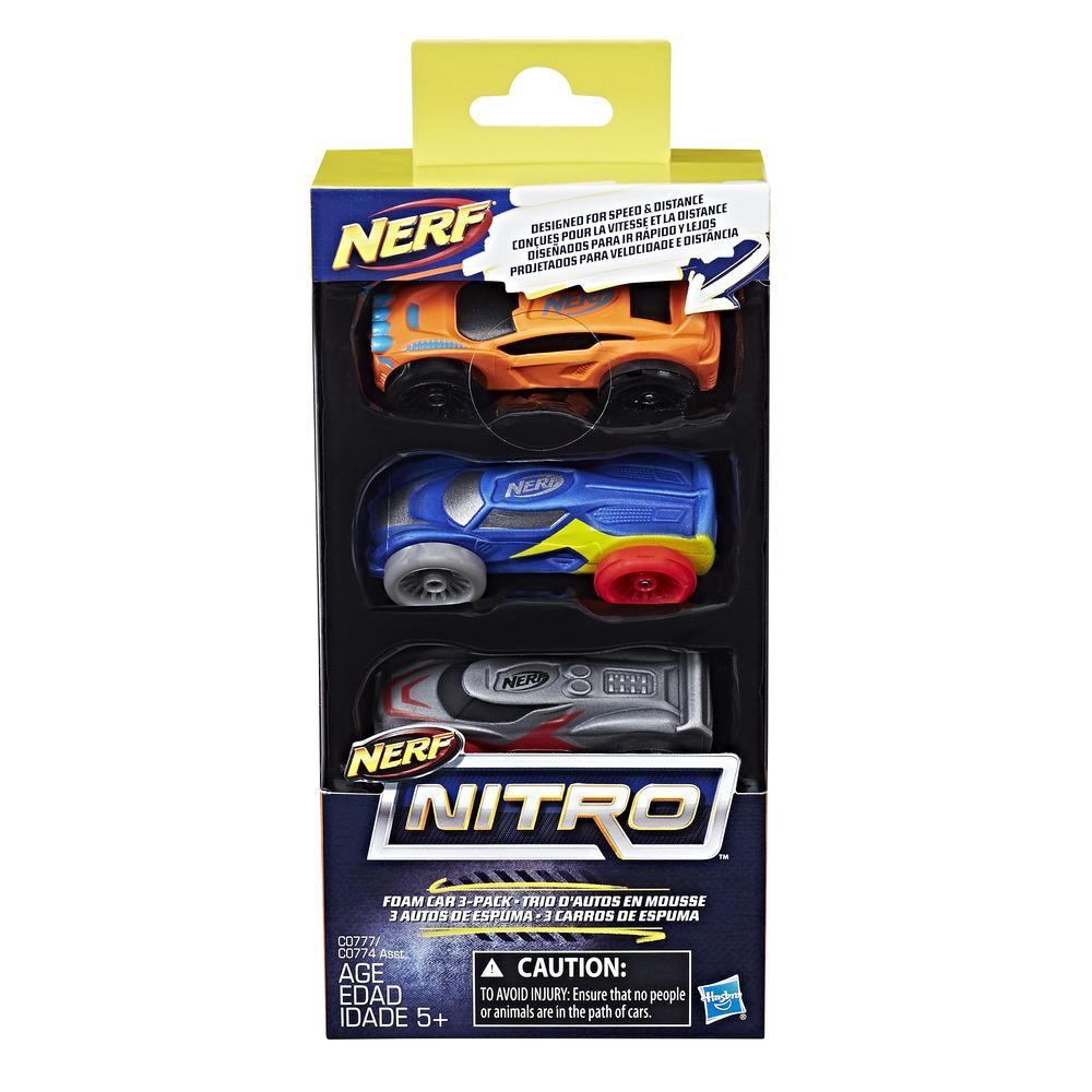 NERF NITRO 3 COCHES DE ESPUMA