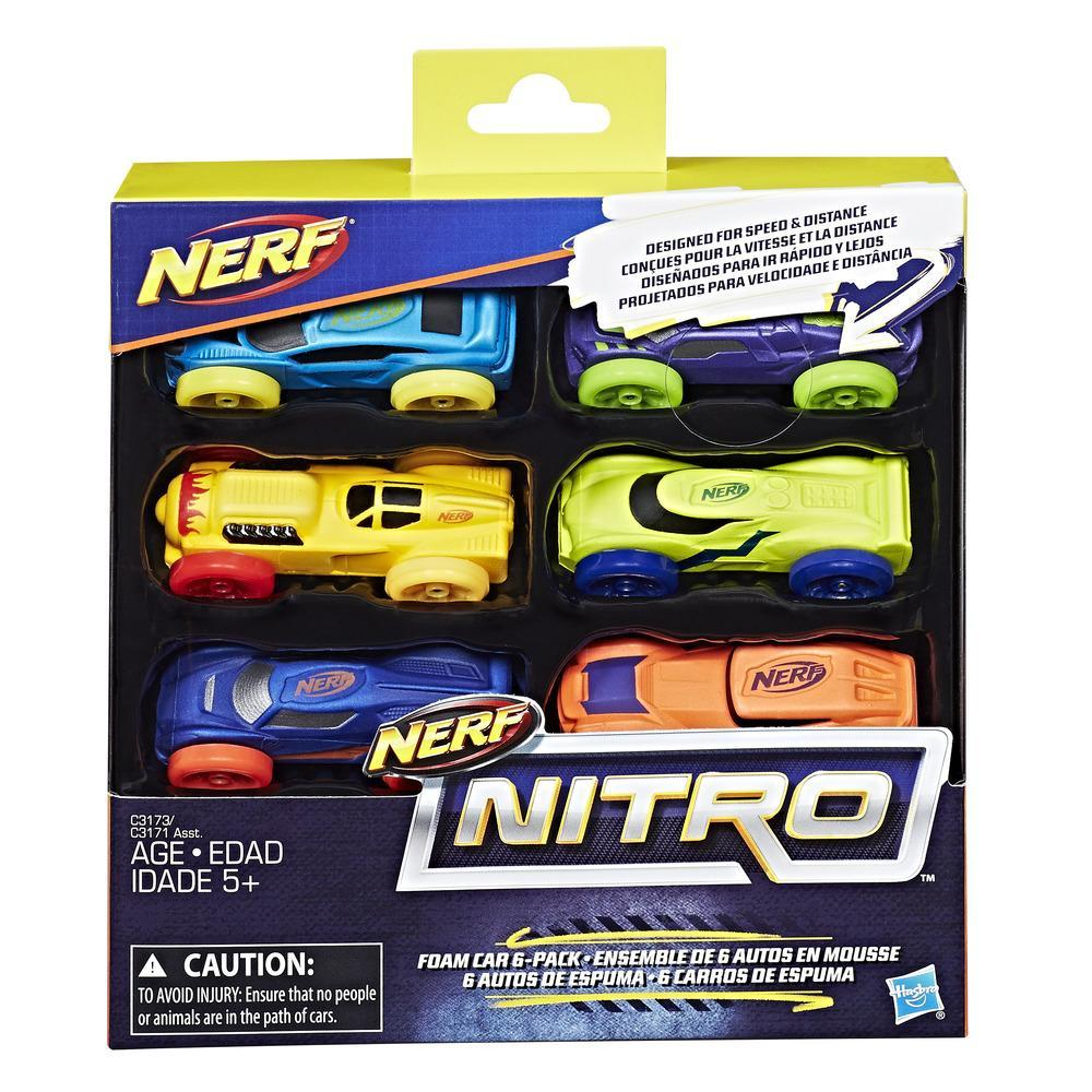 NERF NITRO 6 COCHES DE ESPUMA