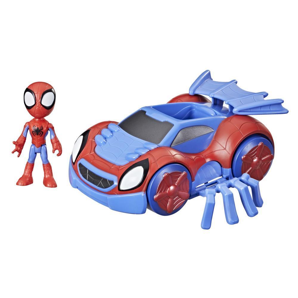 Spidey and His Amazing Friends - Coche arácnido transformable de Spidey