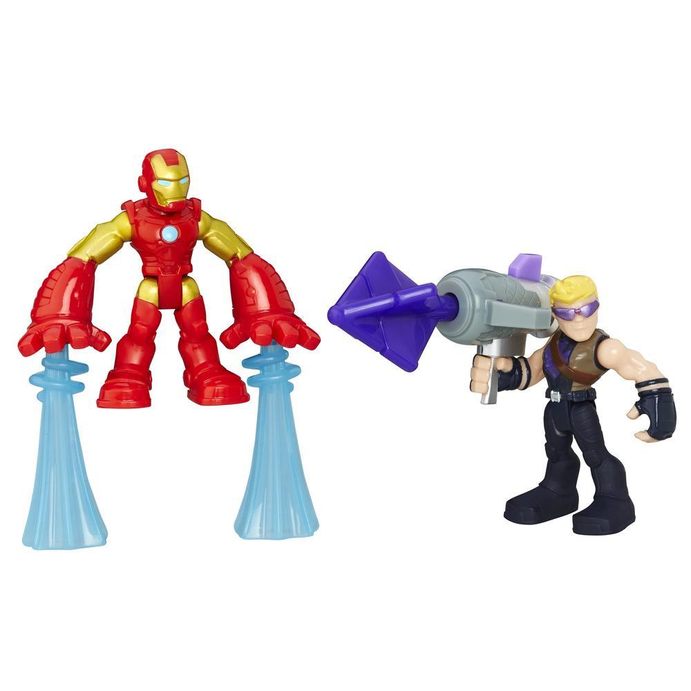 PLAYSKOOL HERO ADVENTURES PACK DE 2 IRON MAN Y HAWKEYE