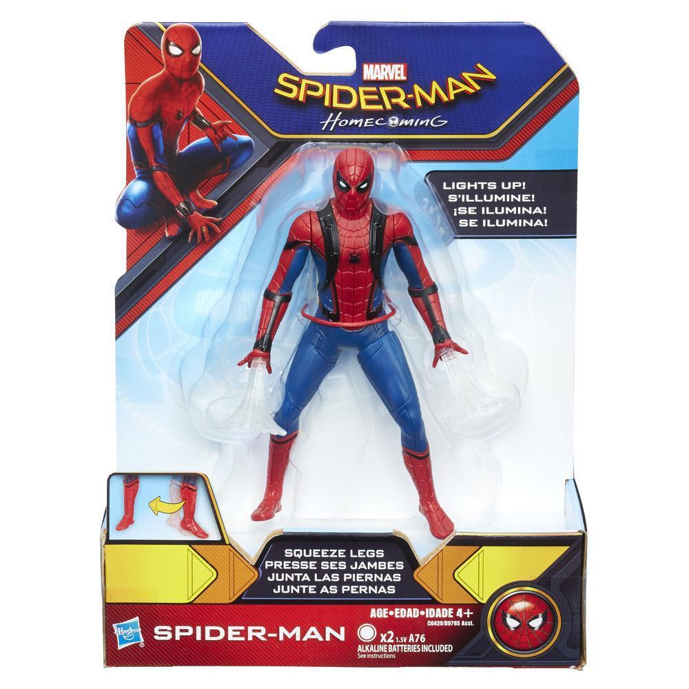 SPIDERMAN WEB CITY LANZA REDES 15CM