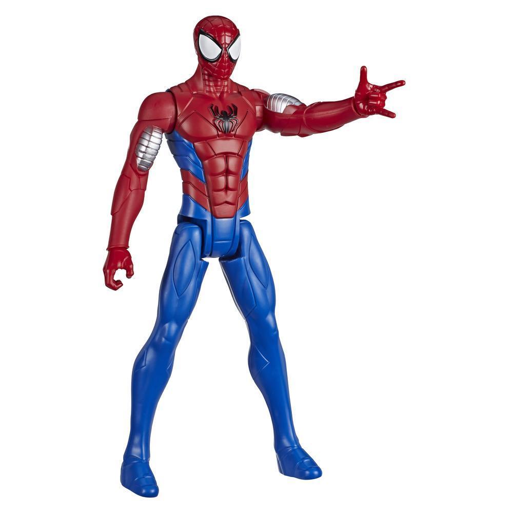 Guerreros arácnidos de Spider-Man Titan Hero Series: Spider-Man blindado