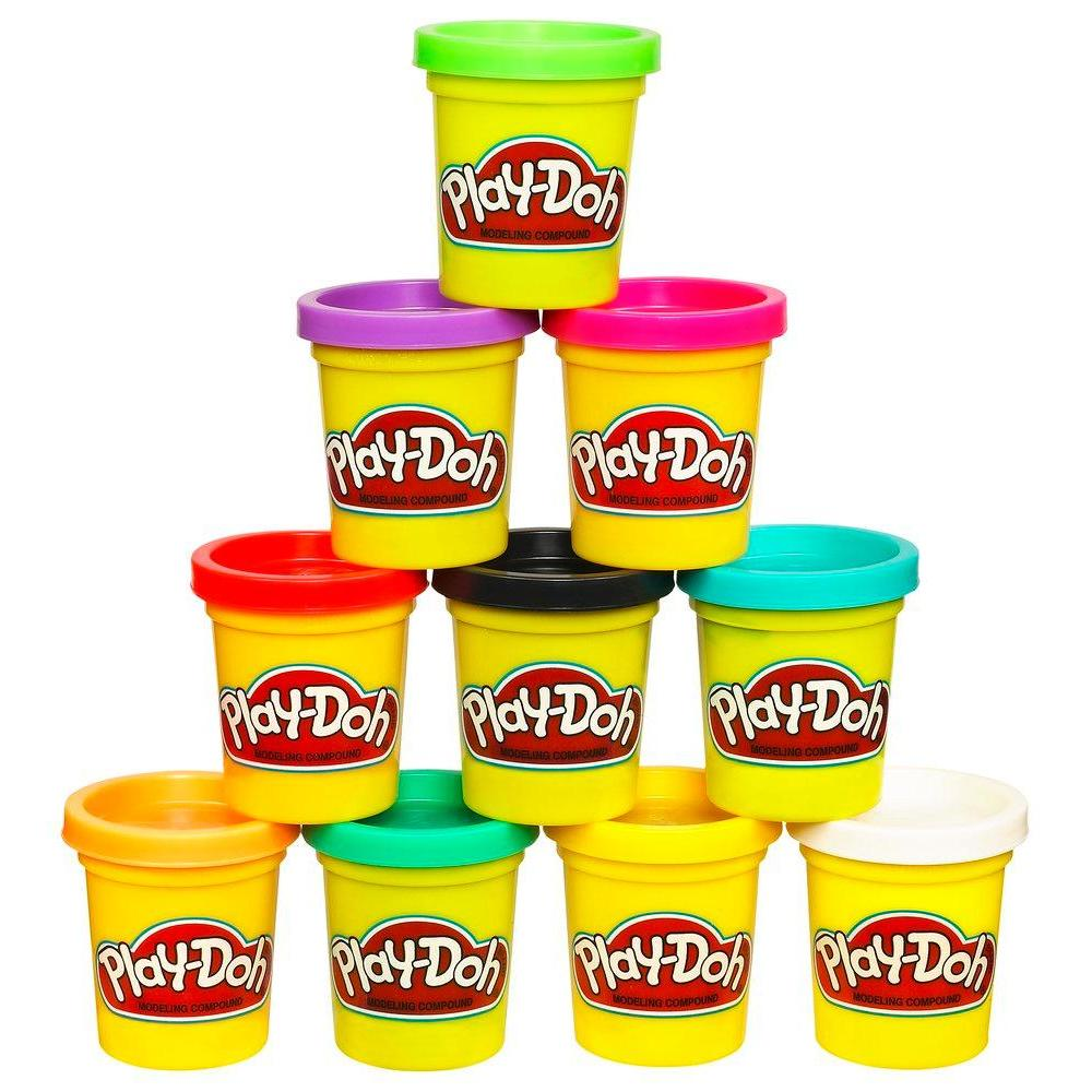 PLAY-DOH PACK 10 BOTES