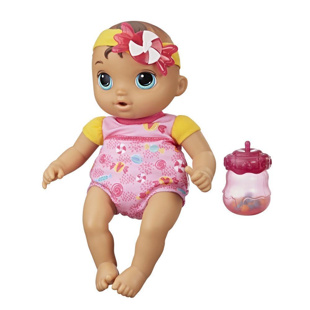 Bebé Sweet 'n Snuggly de Baby Alive, muñeca con cuerpo de trapo lavable, con biberón, primera muñeca bebé para niños a partir de 18 meses
