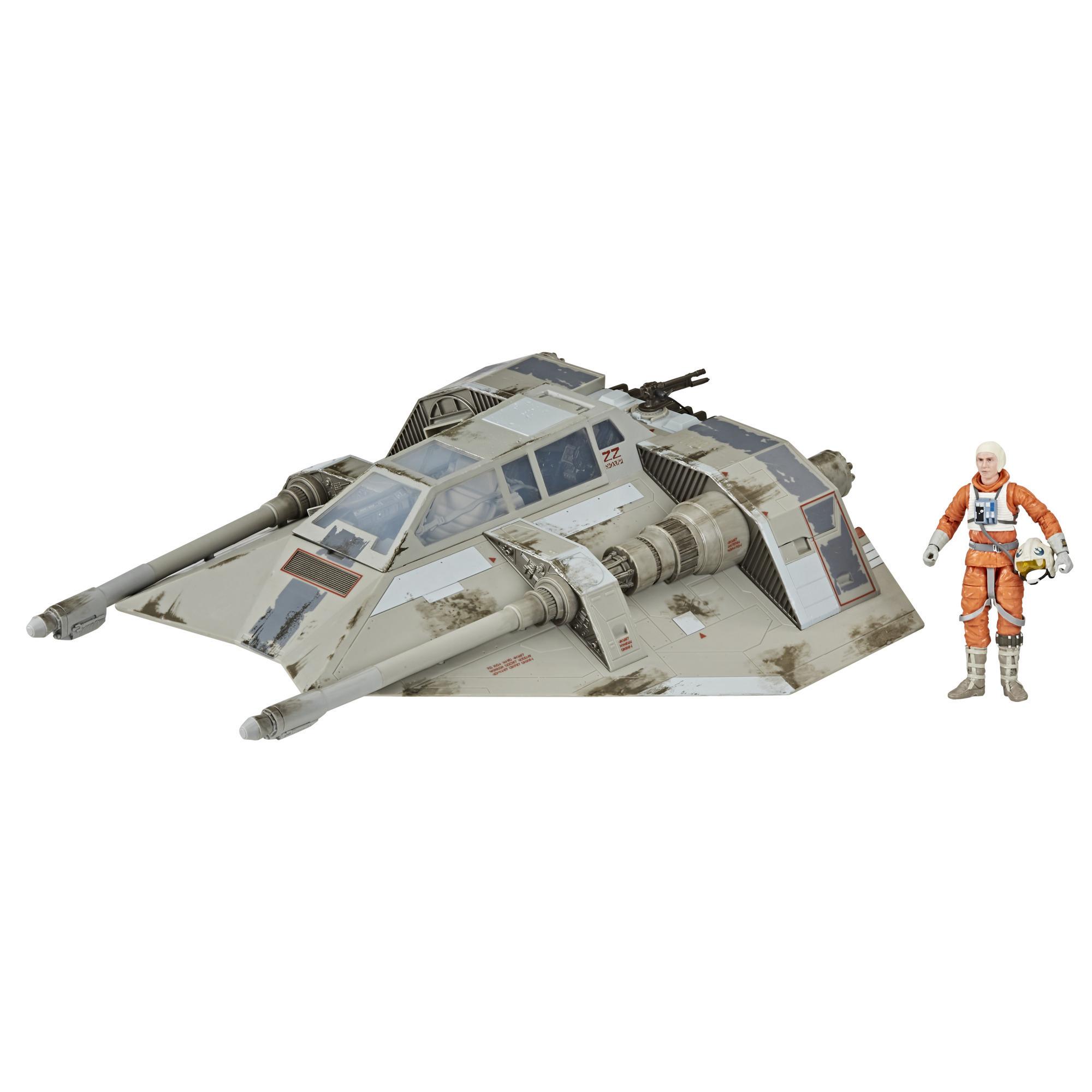 Juguetes coleccionables de Star Wars The Black Series de vehículo Snowspeeder con figura de Dak Ralter de 15cm de Star Wars: El Imperio contraataca