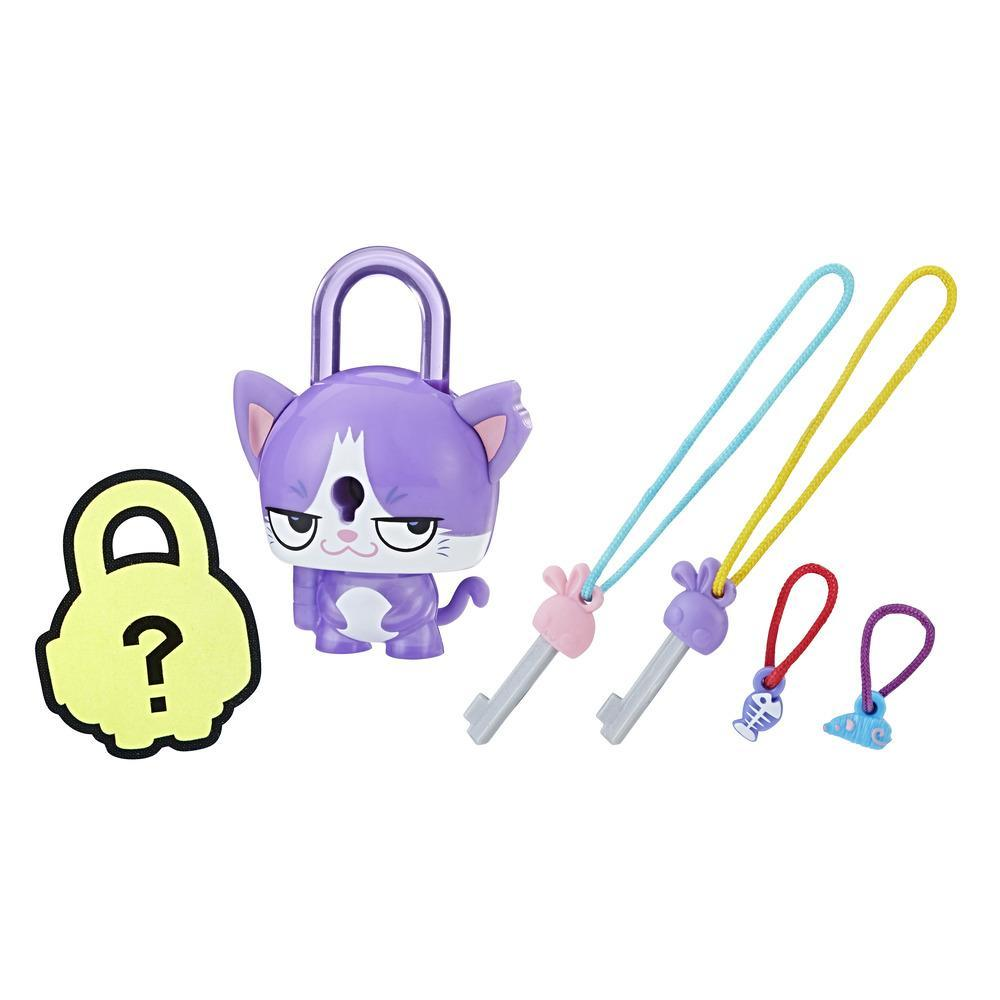 LOCK STARS PURPLE CAT