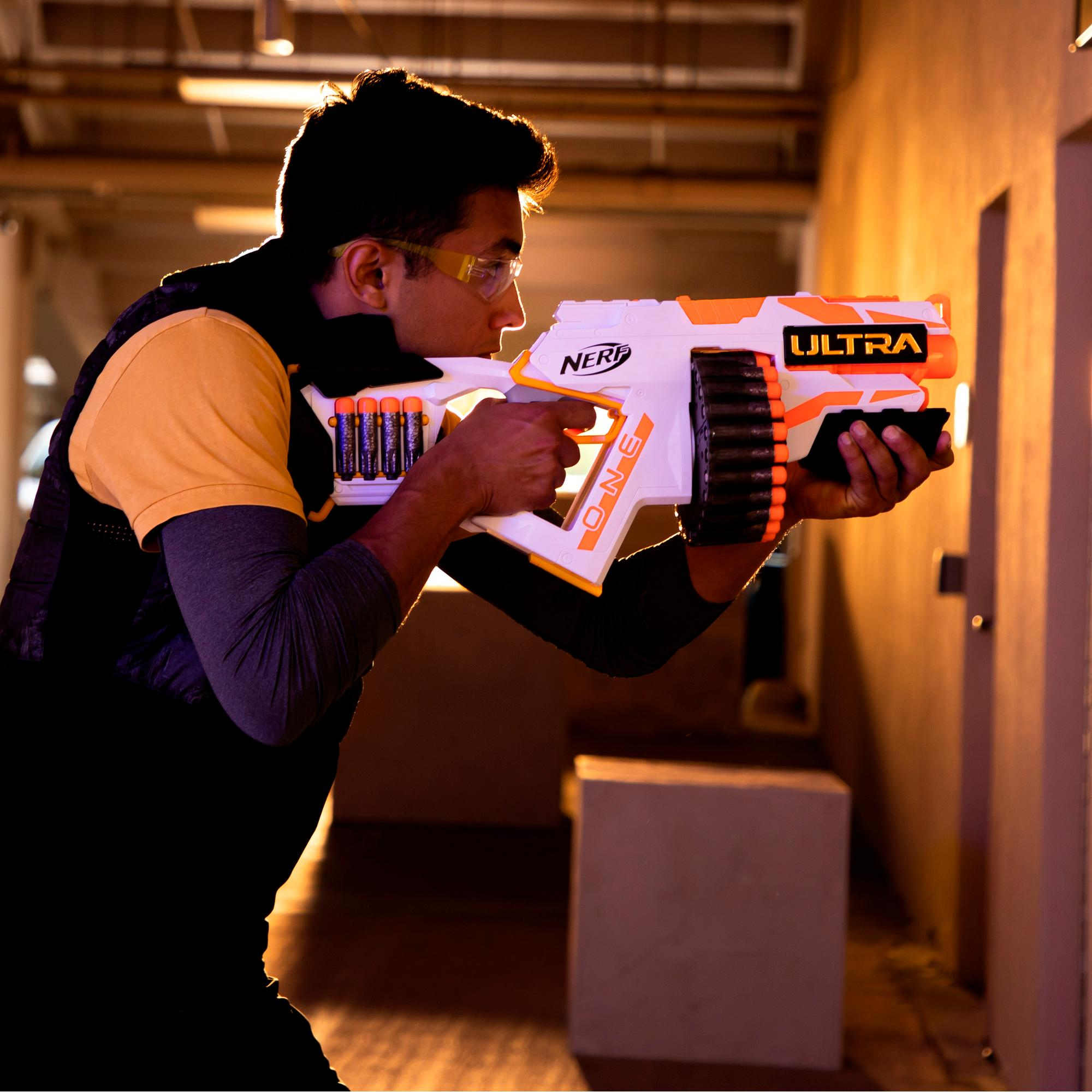 Nerf Ultra One Motorized Blaster -- High Capacity Drum -- 25 Official Nerf Ultra Darts, the Farthest Flying Nerf Darts