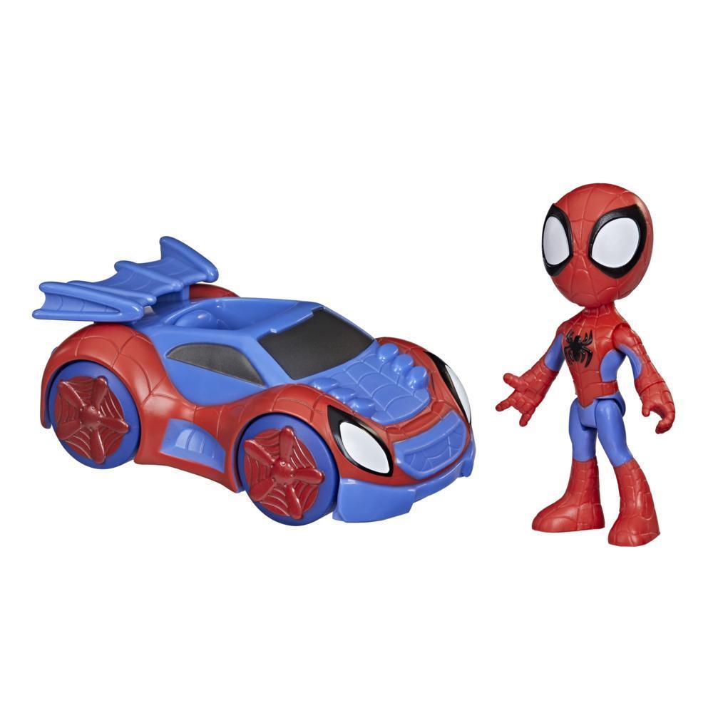 Marvel Spidey and His Amazing Friends - Spidey con coche arácnido
