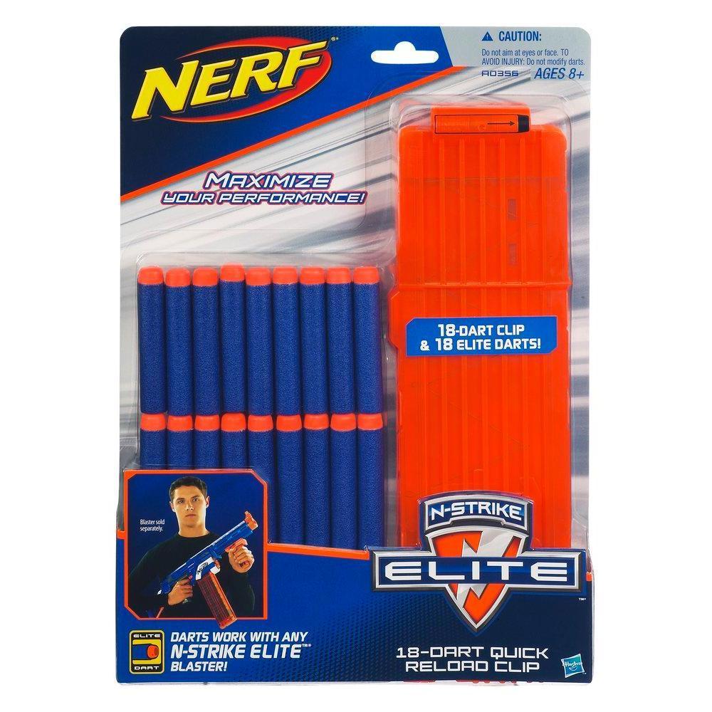 NERF - N-STRIKE ELITE Clip con 18 Dardos