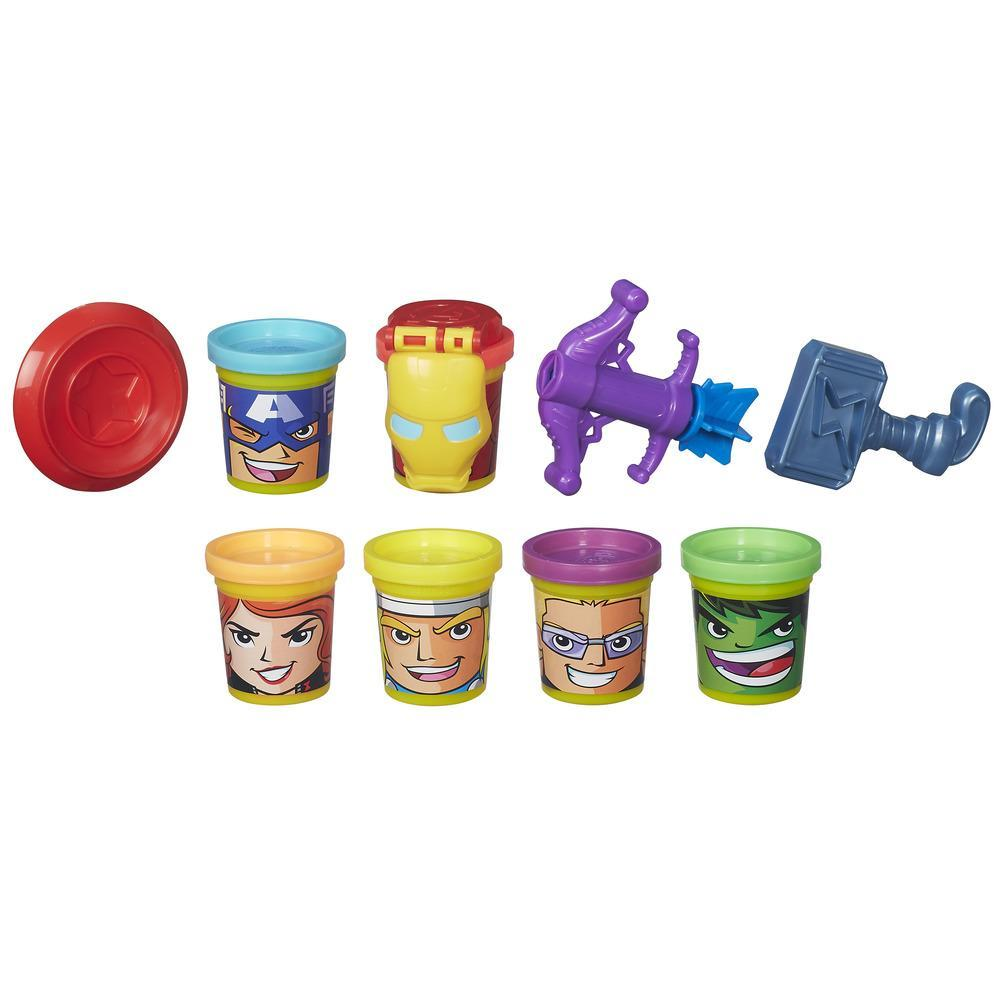 Play-Doh Marvel - Héroes unidos con Can-Heads