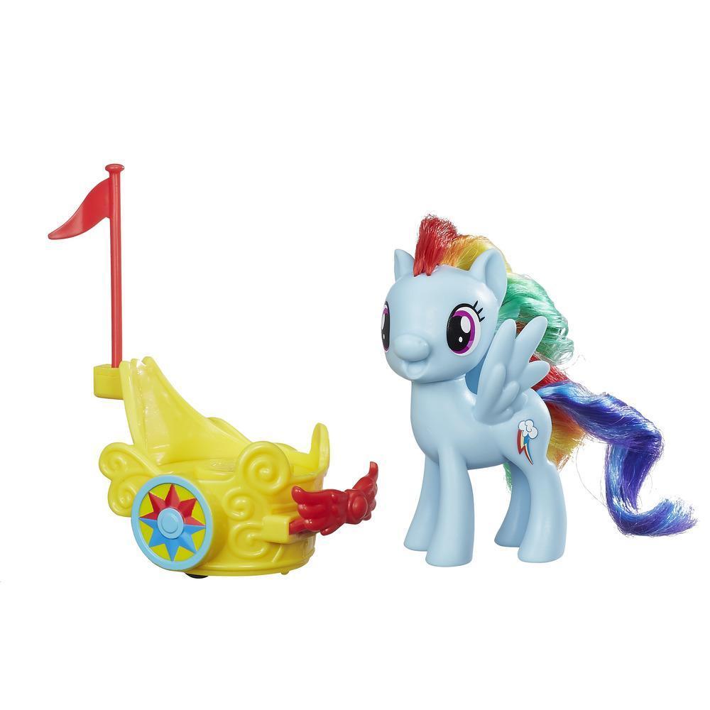 My Little Pony Carro real giratorio de Rainbow Dash